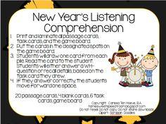 New Year's Listening Comprehension *Freebie*