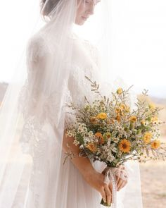 #Fall #wildflower bouquet #wedding Simple, sweet and inexpensive. Love it! Check out www.planningyourweddingforless.com