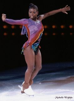 Surya Bonaly is a French and European figure skating champion. She is remembered for being the first female figure skater to attempt a quadruple jump. Women In History, Black History, Black Is Beautiful, Beautiful Women, Beautiful People, Young Gifted And Black, Famous African Americans, Ice Skating, Figure Skating