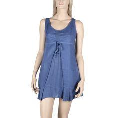Tunique en lin et coton Maloka couleur bleu