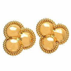 Italian Gold Clip Post Earrings 1
