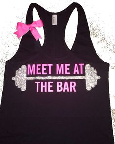 Meet Me at The Bar - Racerback Tank - Black Tank - Fitness Tank - Gym | Ruffles with Love