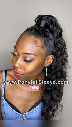 Side Ponytail Hairstyles, Hair Ponytail Styles, Down Hairstyles, Curly Hair Styles, Side Ponytails, Retro Hairstyles, High Curly Ponytail, Natural Hair Ponytail, Black Women Hairstyles