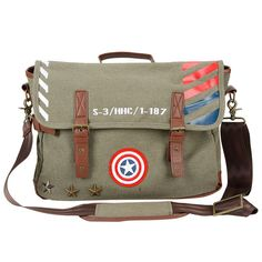 Captain America Vintage Military Satchel - $75 ⋆ Marvel Gifts!