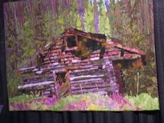 "Michelle Jackson's quilt called ""Old Pecos Cabin."""
