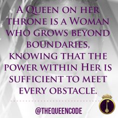 """""""A Queen on her thro"""