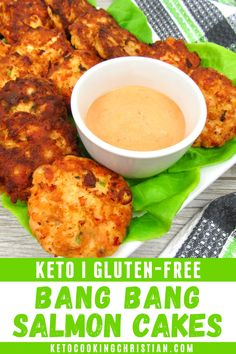 Gluten Free Party Food, Best Gluten Free Recipes, Whole Food Recipes, Keto Recipes, Healthy Recipes, Keto Foods, Low Carb Appetizers, Appetizer Recipes, Fish Cakes Recipe
