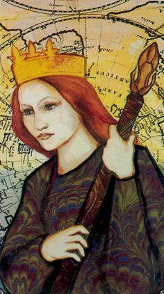 Queen of Wands - Hudes Tarot