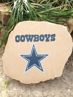 Round Outdoor Rugs Dallas Cowboys Decorative Garden Rock by themesations on Etsy