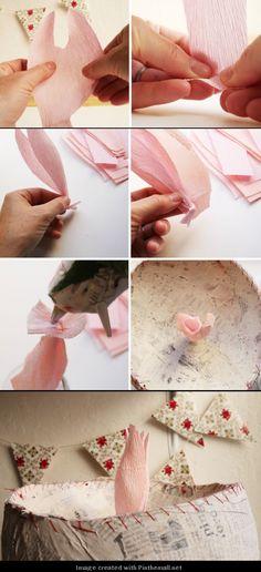 Giant Crepe Paper Peony---Part 5 of 10---written directions on post---http://bloggingcornerblog.blogspot.com/2013/07/giant-paper-peony-pinatas.html