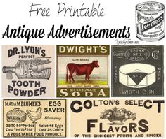 Free printable antique advertisement for sewing thread, that would look amazing as a sign in a craft or sewing room. From Knick of Time.