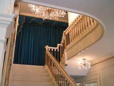 """Staircase to the """"forbidden"""" upstairs at Graceland"""