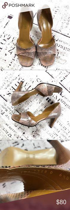 Gucci Python Peep Toe Heels Authentic Gucci peep toe heels. Gucci Shoes