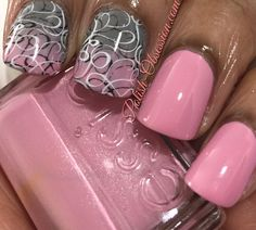 Pink, Gray, Black and White   Polish Obsession