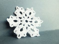 SALE Crocheted snowflakes decorations applique by eljuks on Etsy, $9.00