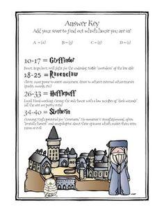 Harry Potter Themed Classroom - Sorting Hat Quiz!