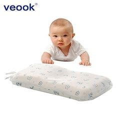 Product review for Veook Baby Memory Pillow Supports Head & Neck ,3D Groove Memory Foam Positioner Pillow Prevent Flat Head with Cotton Pillow Case (0-3years).  - baby pillow : • Is washable • Is Hypo-allergenic, Bacteria resistant and Odorless • Has light to medium fill to ensure the correct angle on the neck area • Long lasting and The Perfect gift to use in bed, crib, nursery, school, for travel and naps • Not too firm not too soft • Our baby pillow con....