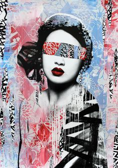 Graffiti Geisha by HUSH  via: crossconnectmag  #AsianInspiredArt #Yellowmenace