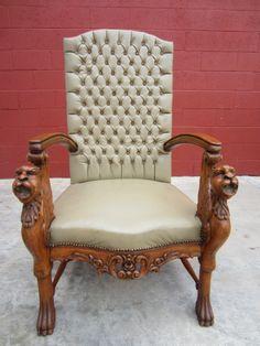 Antique Chair Carved Antique Arm Chair Griffin Antique Furniture