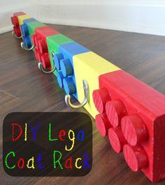 Diy lego rack - Most Creative DIY Coat Rack Design Ideas Lego Projects, Woodworking Projects Diy, Kids Woodworking, Wood Projects, Intarsia Woodworking, Woodworking Supplies, Boy Room, Kids Room, Lego Bathroom