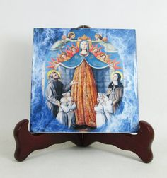 Our Lady of #Mercy - #Catholic icon on ceramic tile handmade in Italy. Now available on Etsy - a perfect #religious gift idea. https://www.etsy.com/listing/494669898
