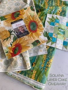 Solana Layer Cake and Robin Pickens quilt block- Bear Cubs Campfire