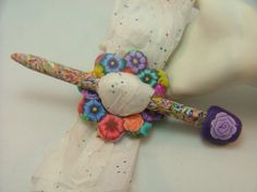 Handcrafted+Shawl/Scarf+Pin+Colorful+by+PolymerClayCreations