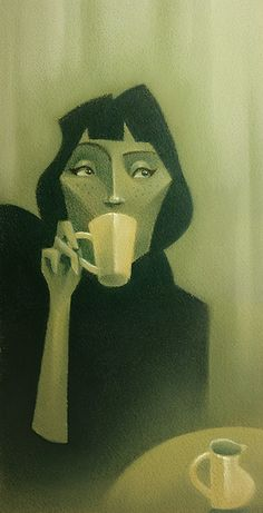 Girl drinking coffee by FPCorazza, via Flickr