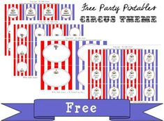 FREE Circus Party Printables! | Five Little Ladies