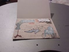 Inside to antique card