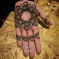 Henna mandala by Henna Being