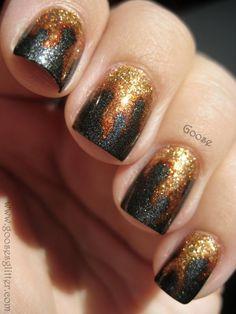 Katniss Nails DIY from China Glaze and Seche Vita
