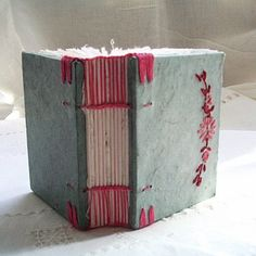 handmade book by Indianablue http://www.flickr.com/photos/arablu/sets/72157626296666543/ http://indianablue.blogspot.com/ #handmade_books #bindings