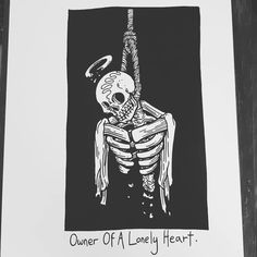 Art by Matt Bailey The Skulls, Matt Bailey, Sad Drawings, Dark Art Drawings, Under Your Spell, Skeleton Art, Dibujos Cute, Lonely Heart, Skull Art