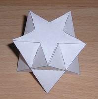 Paper model pentagrammic antiprism