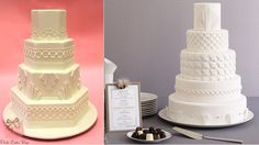 art deco wedding cakes by Pink Cake Box left and Sweet Element right