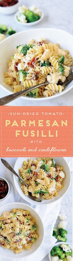 An easy weeknight pasta recipe featuring broccoli and cauliflower florets, sweet and chewy sun-dried tomatoes and our spiral pasta in a bold tomatoey cream sauce. You're going to want to keep this one in the weekly rotation.