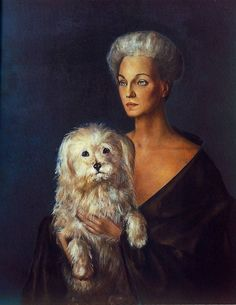 Portrait of Mona and subdued Mickey, by Leonor Fini.