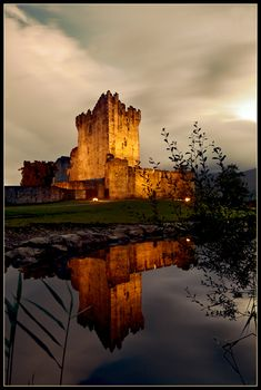 Love the reflection and structure of the Ross castle: Kilarney, Kerry Ireland. (photo by Desmond Daly) Places To Travel, Places To See, Erin Ireland, Future Travel, Ireland Travel, Wonders Of The World, Beautiful Places, Scenery, Around The Worlds
