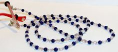 Blue Howlite Gemstone Eyeglass Lanyard by nonie615, $17.50 I can convert to a key or id badge lanyard as well.