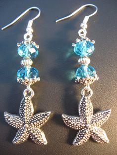Starfish Jewelry  Starfish Earrings  Ocean Jewelry  by jewelryrow, $12.50