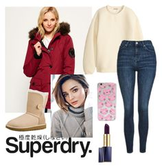 """The Cover Up – Jackets by Superdry: Contest Entry"" by liacarolina02 ❤ liked on Polyvore featuring Superdry, H&M, UGG Australia, Topshop, Kerr® and Estée Lauder"