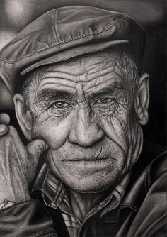 Related images of pencil drawing expressions angry man. Realistic Pencil Drawings, Pencil Drawing Tutorials, Amazing Drawings, Pencil Art Drawings, Drawing Sketches, Sketching, Old Man Portrait, Foto Portrait, Portrait Art