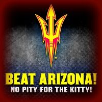 Almost game time at Sun Devil Stadium! No Pity For The Kitty~GO  SUN DEVILS!!!