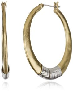 Kenneth Cole New York Gold-Tone Hoop Earrings