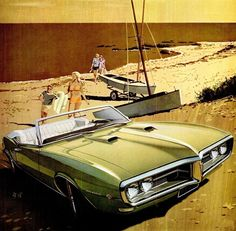Girls & Machines - Pontiac Firebird 400, 1968.