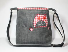 cat purse cat bag small crossbody bag applique by Enchantingcrafts, £26.50