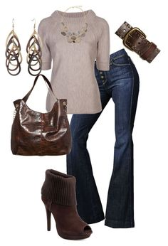 """""""Late September"""" by cami-sue ❤ liked on Polyvore featuring 7 For All Mankind, Carolina Herrera, Madison Harding, American Eagle Outfitters, A