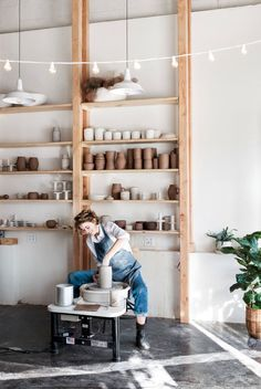 Vesle On Life and Pottery With Sarah Van Raden, Founder of Notary Ceramics. Ceramic Workshop, Pottery Workshop, Pottery Studio, Clay Studio, Ceramic Studio, Art Studio At Home, Home Art, Garage Atelier, Art Studio Design
