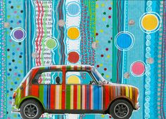 Mini Cooper By Paul Smith. Collage CC